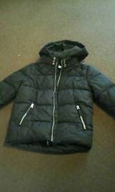 Boys black coat age 7-8