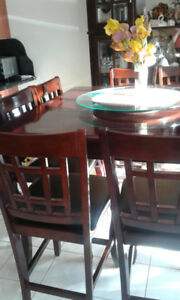 Counter Height Dining Room Set.