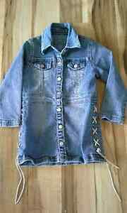 girl- jeans coat 3-4x LIKE NEW