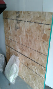 """3/4"""" - 4' x 4' 6"""" OSB board (leftover from floor project)"""
