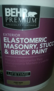 5 Gallon Behr (Home Depot) Elastomeric Exterior Stucco Paint