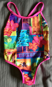 GIRLS REVERSIBLE SPEEDO SUIT FITS SZ. 2- 4 YRS - As New