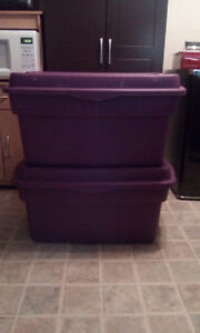 7 STORAGE BINS -- VARIOUS SIZES -- $25 FOR ALL!