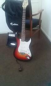 Electric guitar, Rockburn strat copy .