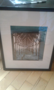 Glass & Black Framed Wall Art... $10 First Come No Hold