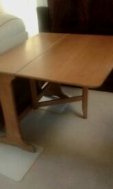 SCHREIBER DROP LEAF TABLE