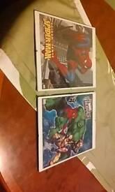 Marvel puzzels in frames