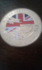 WW1 Great War Memorial Coin.