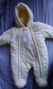 BABY SNOWSUIT  0-3 MS - LIKE NEW