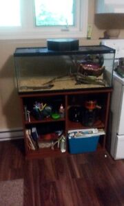 27 Gallon Aquarium and stand