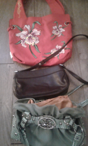 Designer bags 20$ each or all 3 for 50$ like new condition