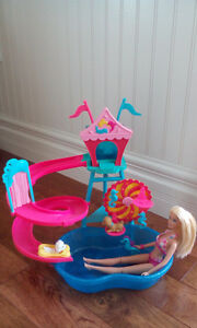 Barbie Pet Pool with Slide and Barbie Doll