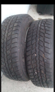 Pair of 205/65R15 winter tires, almost brand new