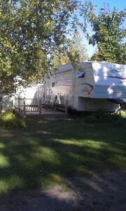 5th wheel Camper RV at  KOK campground Caissie Cape