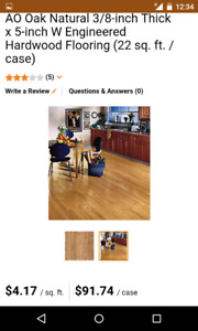 Make an offer. 14 boxes of  engineered hardwood worth over $1400
