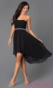 Black Strapless Hi-Lo dress
