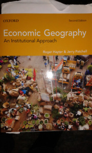 Economic Geography: An Institutional Approach