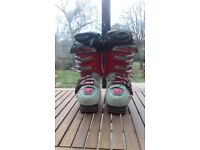 Unisex ski boot size 2-3 racing spec Atomic ski boots.
