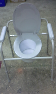 FOR SALE:  Commode, bathtub grab bar