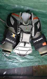 Goalie ITech/Bauer Prodigy Elite Body Armor-REDUCED
