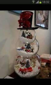 Glass snowman Christmas