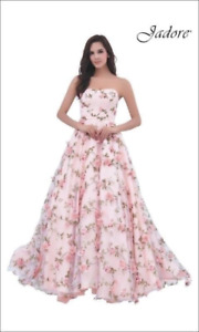 Pink Floral Ball Gown / Dress