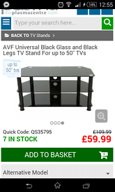 black glass tv stand suitable for 50 inch