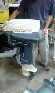 25 hp evinrude         outboard motor
