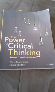 Textbook- The Power of Critical Thinking