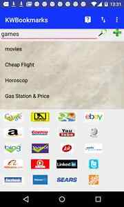 Multiple Web Sites Seach & Bookmark Android App