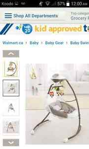 in search of baby swing and baby jumper