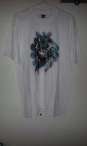 Native Wolf Print T-Shirt for Sale