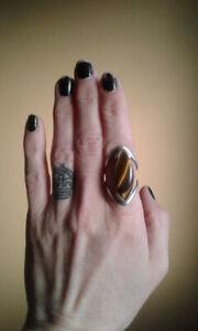 Tiger Eye stone/silver ring