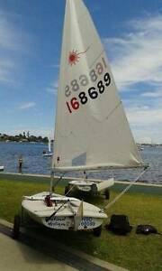 Laser sail boat Adamstown Heights Newcastle Area Preview