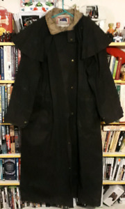 Kooah oilskin trench coat