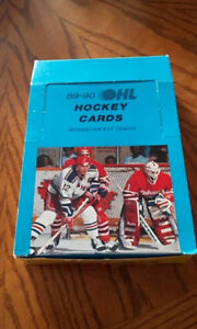 1989-90 hockey cartes box OHL  7 th inning sketch