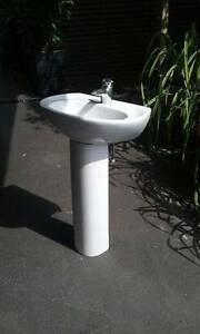 Pedestal bathroom basin with tap Northbridge Willoughby Area Preview