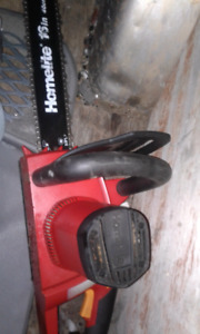 "Homelite Electric Chainsaw 16"" $40 obo"
