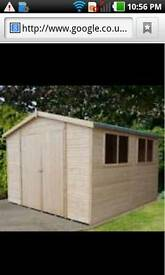 Shed 6x12 wooden