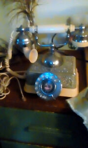 1950's Vintage French Victorian Style Rotary Dial Phone