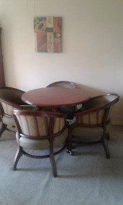 Dining room table and four chairs