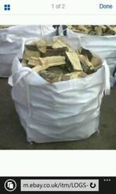 One tonne bag of logs