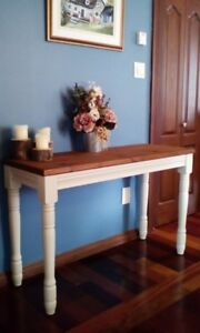 Rustique table console,meuble buffet desserte,table d appoint