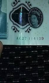 QUICK SALE!! £5 note AK27 114109