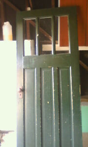 Solid wood door from 1953 with working skeleton key