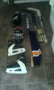 Hockey different pieces of equipment