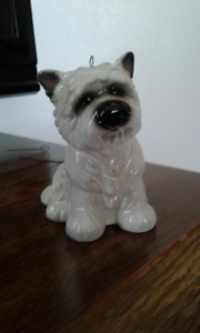 West Highland White Terrier Ceramic Dog Ornament by Big Sky Carv