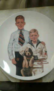 Norman rockwell collecter plate set best offer