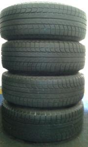 4 Michelin X-ICE winter tires on rims - 265/70R17
