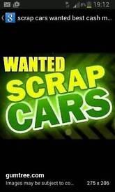 SCRAP CARS/VANS WANTED